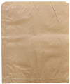 PAPER BAG 3F 3 FLAT LONG 240MM X 200MM BROWN 500PK