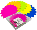 SIGN STAR BLANK 80315 LARGE 205MM FLUORO ASSORTED COLOURS SINGLE SIDED 60PK