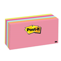 POST IT 3M 6555PK POSTIT NOTES 76MM X 127MM NEON ASSORTED 5PK