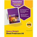 MARBIG COPYSAFE SHEET PROTECTORS HEAVY DUTY A4 CLEAR EACH100 PACK500