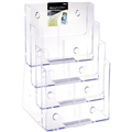DEFLECTO 77441 BROCHURE HOLDER A4 FOUR TIER CLEAR