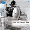 ZIONS NO 26 TIME PAY AND WAGES BOOK 6  26 EMPLOYEES HARD COVER