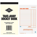 ZIONS TAKEAWAY DOCKET BOOK 100 PAGE