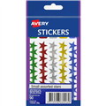 AVERY 932352 MERIT STAR STICKERS SMALL ASSORTED 90PK