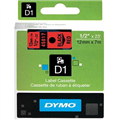 DYMO 45017 D1 LABEL TAPE 12MM X 7M BLACK ON RED