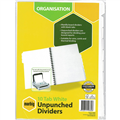 MARBIG DIVIDER UNPUNCHED MANILLA 10TAB A4 WHITE