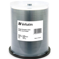 VERBATIM CDR 700MB 52X INKJET PRINTABLE 100PK EACH100 PACK400