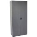 INITIATIVE STATIONERY CUPBOARD 3 SHELVES 910W X 450D X 1830MMH GRAPHITE RIPPLE
