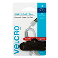VELCRO MEDIUM ONE WRAP USB CHARGER AND POWER CORD TIES 3PK